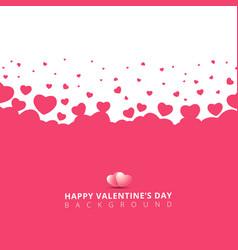 pink hearts futuristic random size on white vector image