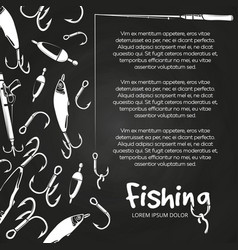poster fishing banner vector image