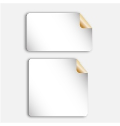 Realistic blank paper sheets pieces stickers vector