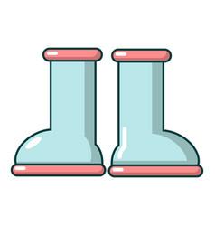 Rubber garden boots icon cartoon style vector