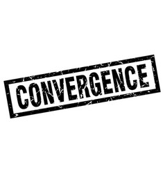 Square grunge black convergence stamp vector