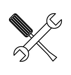 tool repair service icon vector image vector image