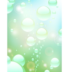 water bubble background vector image vector image