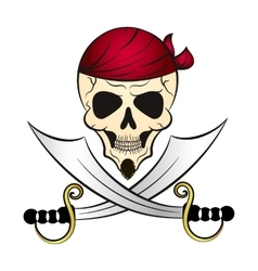 pirate drawing vector image