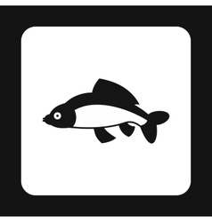 Carp icon simple style vector
