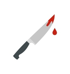 Bloody knife icon flat style vector