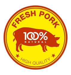 Fresh pork label vector image