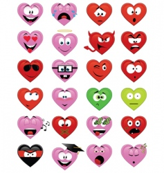 smiley hearts vector image
