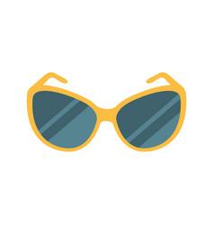 Stylish dark shades eye protection against sun vector