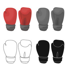 Boxing gloves icon in cartoon style isolated on vector