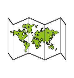 map icon design vector image