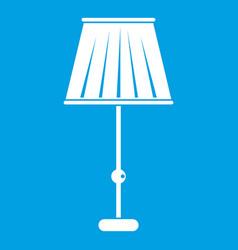 Floor lamp icon white vector