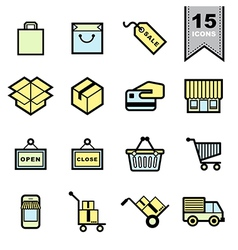 Packaging icons set vector