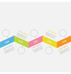 Timeline infographic zigzag ribbon dash line vector