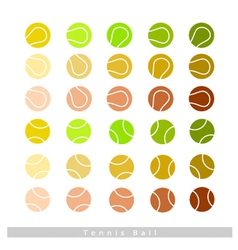 Set of tennis balls on white background vector