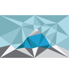Triangle landscape with mountain polygon art vector