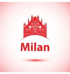 Milan skyline vector