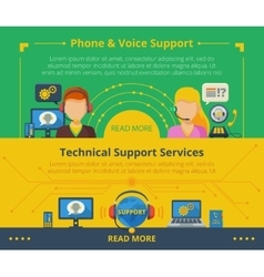 Customer support banner vector