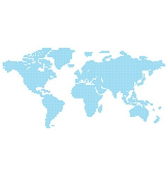 Map of the world consisting of blue characters vector