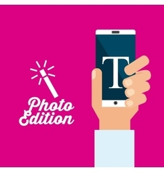 Photo edition design vector