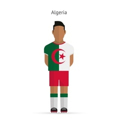 Algeria football player soccer uniform vector