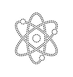 atom sign black dashed icon vector image vector image
