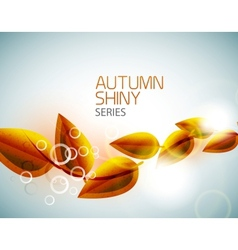 Autumn shiny flying leaves background vector image vector image