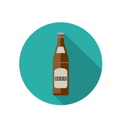 beer icon in flat style vector image vector image