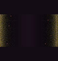 Black gradient backdrop with golden shiny vector