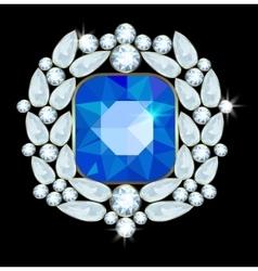 Brooch vector image