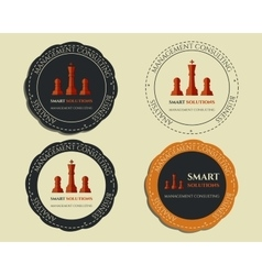 Business logo templates and badges chess smart vector