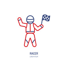 car racer line icon speed auto vector image