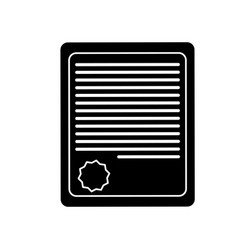Certificate page icon vector