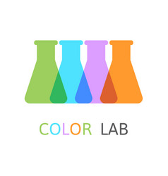 Chemical laboratory flasks vector