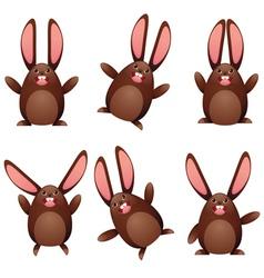 Choco egg bunny vector image vector image