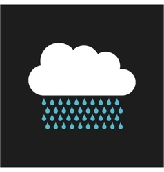 Cloud with drops rain isolated icon vector