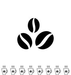 Coffee beans black icon vector