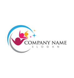 Community care logo template vector