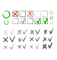 Cross hook collection icons set black vector