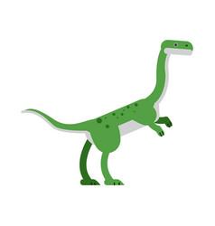 cute cartoon hypsilophodon dinosaur vector image