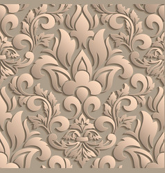 damask seamless pattern element elegant luxury vector image vector image