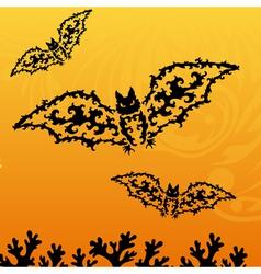decorative bats vector image