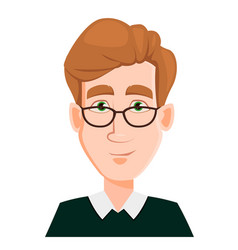 face expression of a man in glasses with blond vector image vector image
