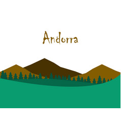 flat icons on theme of andorra landscape vector image vector image