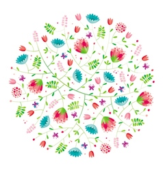 Flower composition vector