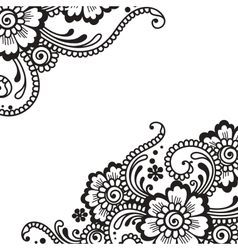 Flower ornament vector
