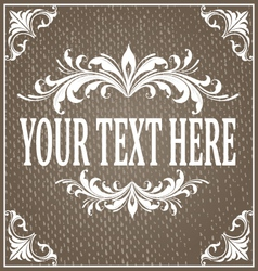 Frame grunge texture vector image vector image