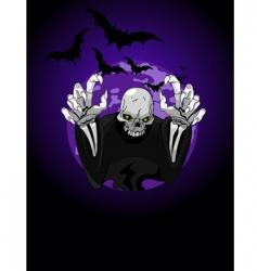 Halloween horrible grim reaper vector