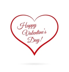 Happy Valentine s Day inside red heart vector image vector image