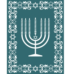 Jewish hanukkah menorah - holiday design vector